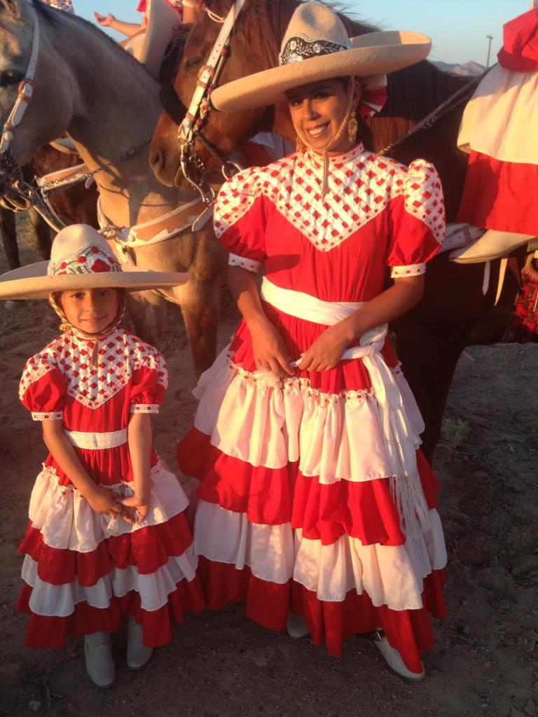 Our Escaramusa team presidente. Andrea Calderon and daughter Galilea.
