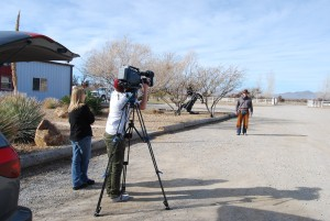 Filming at the ranch